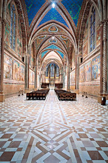 Basilica Superiore-San Francesco-Giotto-Affreschi-vetrate-colori