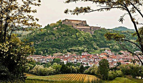 Un buon Calice di Gavi-Gavi-Panorama-Forte di Gavi-Vigneti-Borgo