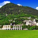 Gubbio, la Città dei Ceri-Gubbio-Panorama.Monte Ingino-Colle Eletto