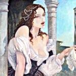 Fantasma della Sora Laura- Illustrazione-Milo Manara- Cortigiana-Fazzoletto