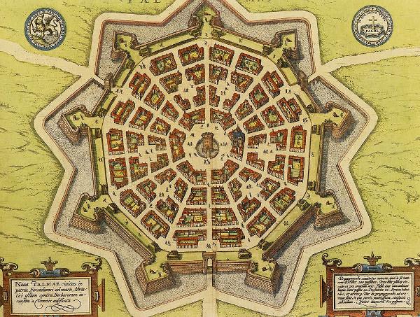 le leggende sulla costruzione della fortezza di Palmanova- Pianta Antica- Fortezza- Palmanova- Stella