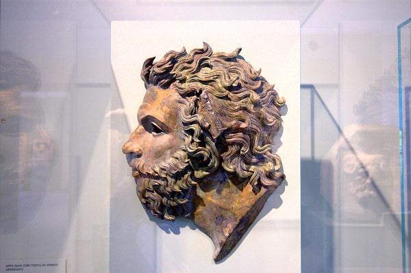 Applique- Bronzo- Testa di Vento- Museo Archeologico Nazionale di Aquileia