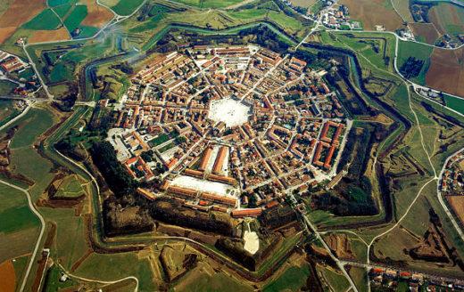 Visita alla città fortezza di Palmanova- Stella a nove punte- Fortezza-