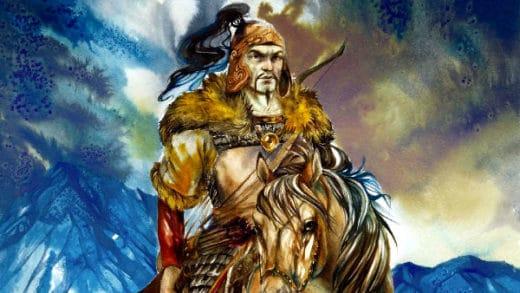 La Leggenda di Attila ad Aquileia- illustrazione- Attila a Cavallo- disegno- picture- flagello di dio-