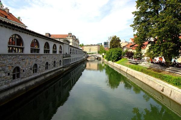 La verde Lubiana in un giorno- Mercato Coperto-Ponte dei Macellai- Mesarski Most-Ljubljanica