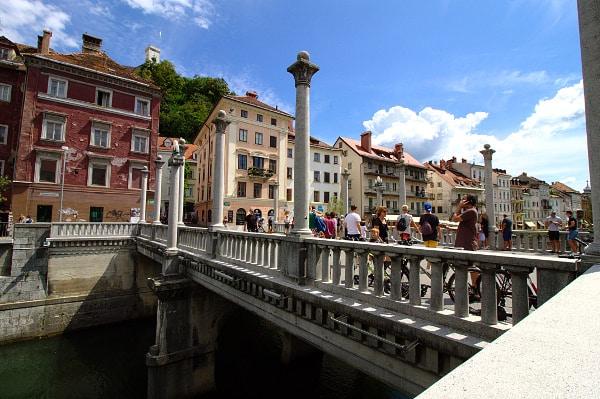 Ljubljiana- Ponte dei Calzolai-Cobblers bridge- Šuštarski most