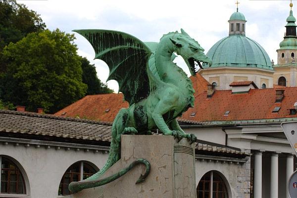 La verde Lubiana in un giorno- Drago- Ponte dei Draghi - Zmajski most- Dragon Bridge