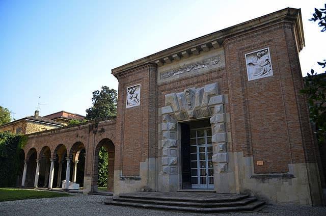 Cosa vedere a Piacenza- Galleria Ricci Oddi- Cortile interno