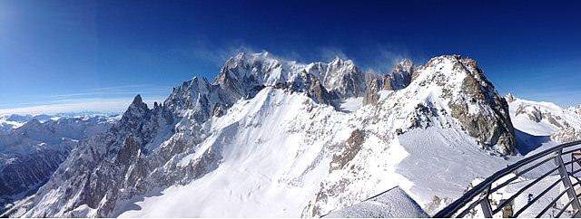 Punta Helbronner- monte Bianco- Panorama- Montagne- Ghiacciaio- neve