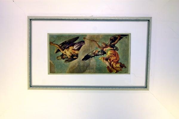 Affresco del Tempo e della fama- Paolo Veronese-figure allegoriche