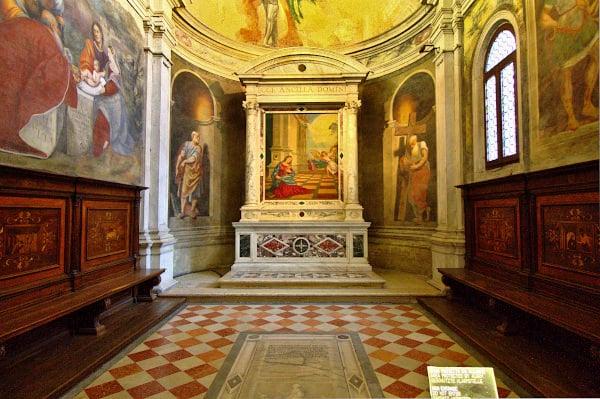 Cosa vedere a Treviso in un giorno- Duomo- Cappella dell'Annunciazione- pala dell'Annunciazione- Tiziano- il Pordenone