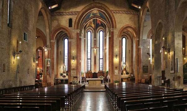 Chiesa di San Francesco di Treviso- stile romanico gotico- affreschi-