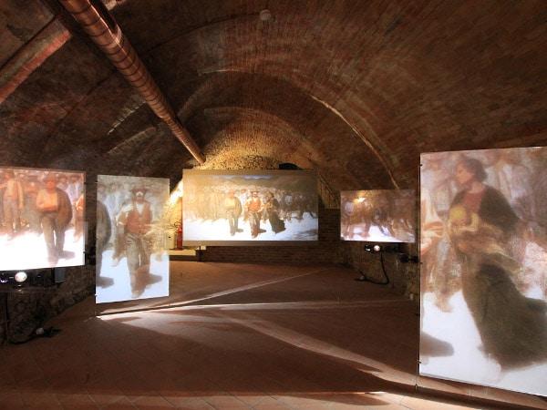 Museo didattico di Pellizza da Volpedo- Installazione multimediale- quarto stato