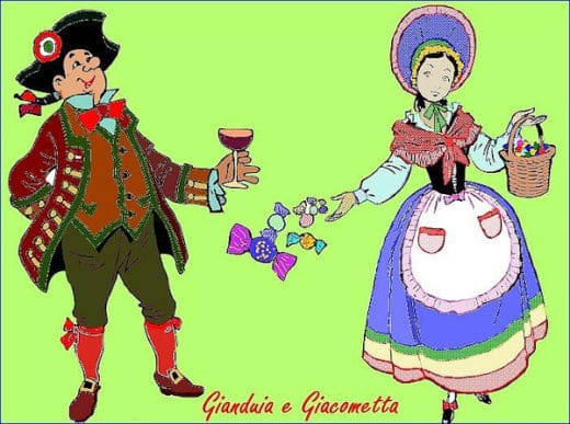 La vera storia di Gianduja e Giacometta- disegno- maschere carnevale- Carnevale di Torino