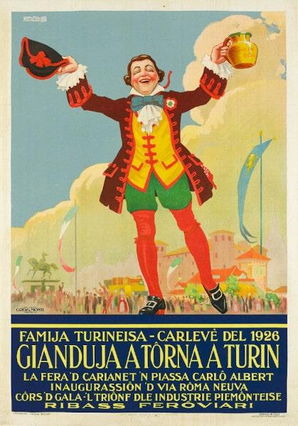 Familia Turineisa- locandina- carnevale 1926- gianduja