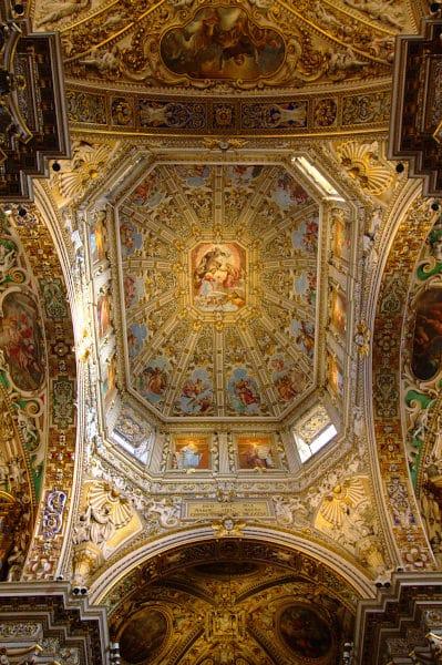 Cosa vedere a Bergamo-Basilica di Santa Maria Maggiore- Affreschi-Barocco-Oro