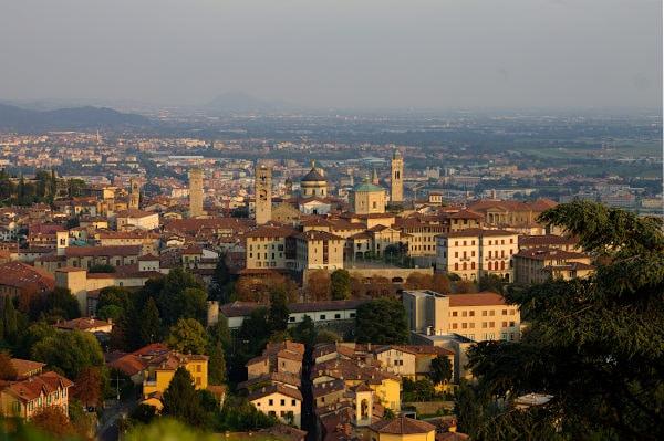 Cosa vedere a Bergamo-Colle di San Vigilio-Panorama-Bergamo Alta
